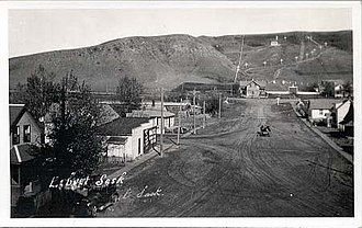 Lebret - The stations of the cross on the hill were erected in 1929.