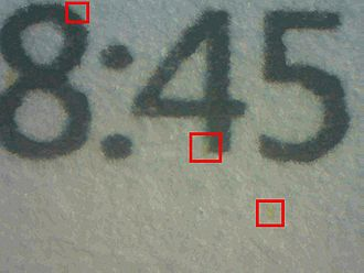 Machine Identification Code - Yellow Dots produced by an HP Color LaserJet CP1515n.