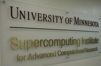 University of Minnesota Supercomputing Institute - MSI Sign