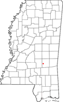 Location of Bay Springs, Mississippi