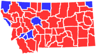 United States presidential election in Montana, 1968 - Image: MT1968president