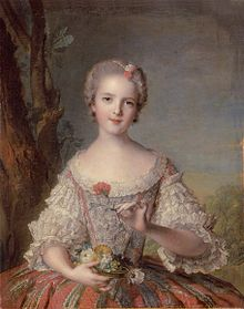 Louise-Marie de France (1748).Portrait par Jean-Marc Nattier.