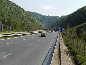 Vitinya Pass - The Hemus motorway just below Vitinya Pass