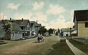 Canton, Maine - Main Street in 1909