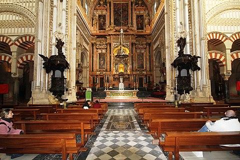 Main altar Cathedral of Cordoba La Mezquita Cordoba