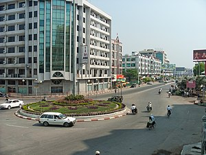 Yadanabon Market - The view from Central Railway Station