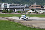 Mandarin Airlines Embraer 190 B-16829 Departing from Taipei Songshan Airport 20150908c.jpg