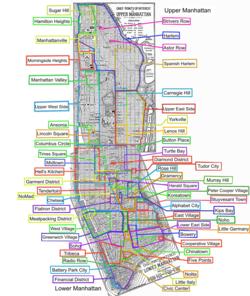 Cartina Quartieri New York.Little Italy Manhattan Wikipedia