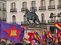 Manifestación republicana en Sol (2 de junio de 2014) - Estatua ecuestre del Borbón.JPG