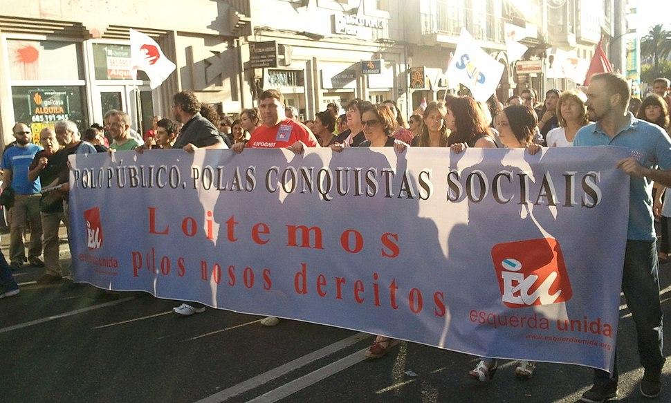 Manifestacion EU Praza Publica
