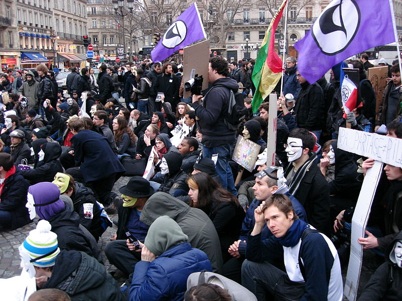 Manif ACTA à Paris - photo L. Allorge