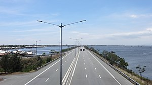 Manila–Cavite Expressway - The Kawit extension, viewed from Bacoor Exit.