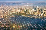 Skyline of Manila, the most densely populated city and capital of the Philippines