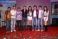 Manmeet Gulzar, Harmeet Gulzar, Sarah Jane Dias, Riteish Deshmukh, Tusshar Kapoor, Neha Sharma at the Audio release of 'Kyaa Super Kool Hain Hum' 02.jpg