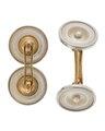 Manschettknappar av guld och silver med pärlemor, 1900-tal - Hallwylska museet - 110551.tif