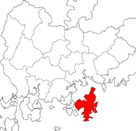Location of Geoje