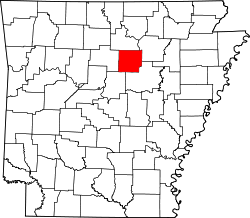 Map of Arkansas highlighting Cleburne County.svg