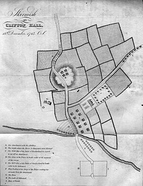 Map of Clifton Moor action 1745.jpg