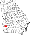 Map of Georgia highlighting Calhoun County.svg