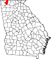 Map of Georgia highlighting Whitfield County.svg