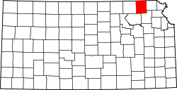 Map of Kansas highlighting Nemaha County.svg