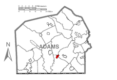 Map of Lake Heritage, Adams County, Pennsylvania Highlighted.png