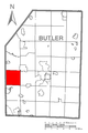 Map of Lancaster Township, Butler County, Pennsylvania Highlighted.png