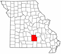 Map of Missouri highlighting Texas County.png
