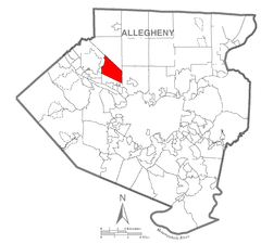 Map of Ohio Township, Allegheny County, Pennsylvania Highlighted.png