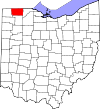 State map highlighting Fulton County