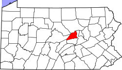 Map of Pennsylvania highlighting Union County.svg