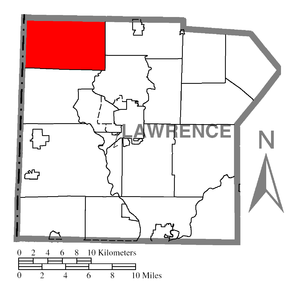 Pulaski Township, Lawrence County, Pennsylvania - Image: Map of Pulaski Township, Lawrence County, Pennsylvania Highlighted