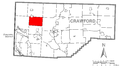 Map of Summerhill Township, Crawford County, Pennsylvania Highlighted.png