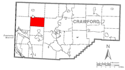 Location of Summerhill Township in Crawford County