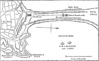 Battle of the Barrier - Image: Map of the Battle of the Barrier