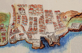 Santa Cruz de Tenerife - Map of Santa Cruz de Tenerife in 1701