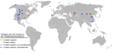 Mapa de les troballes de fòssils de tiranosauroïdeus.png