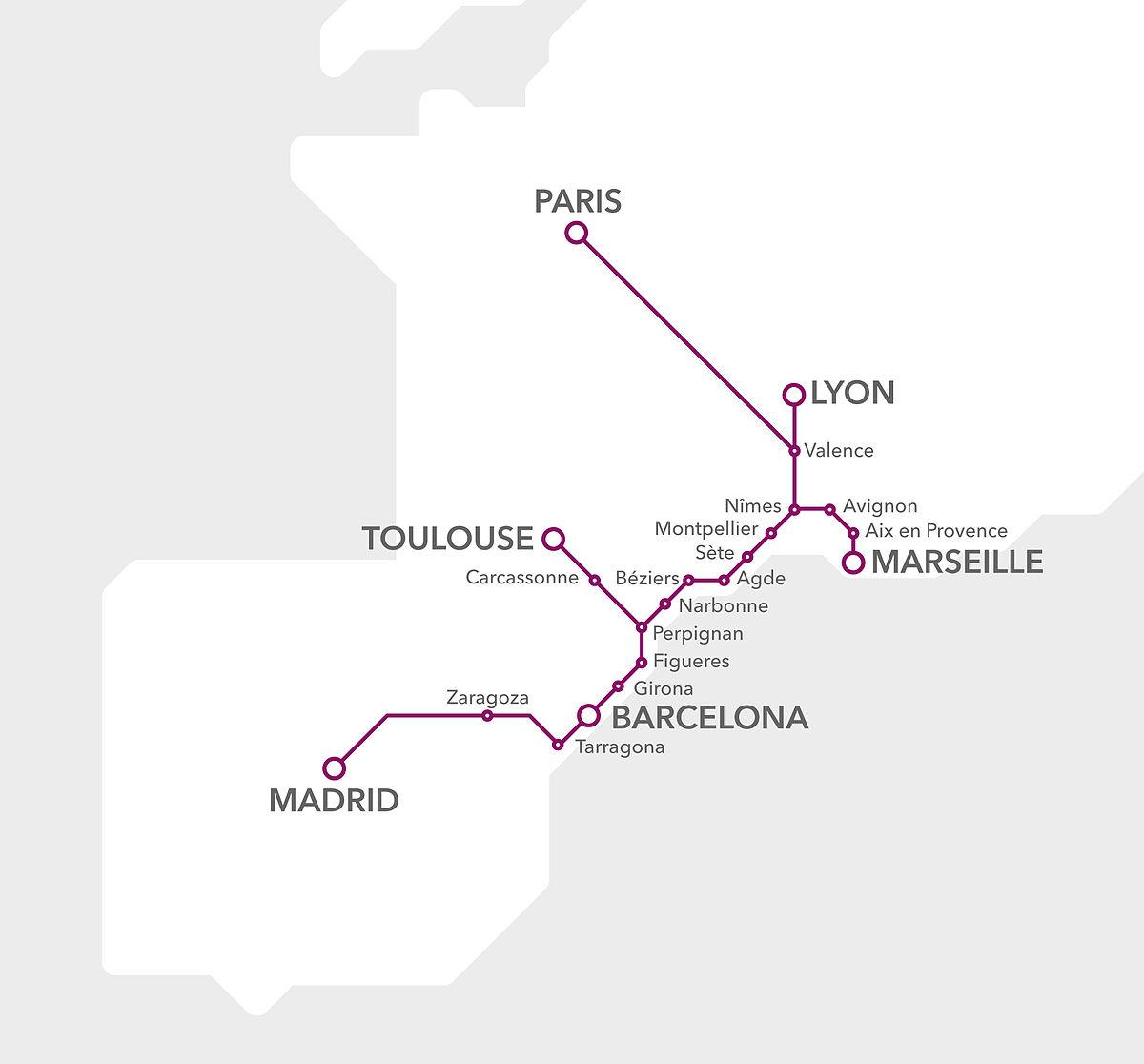 Tren alta velocidad España Francia