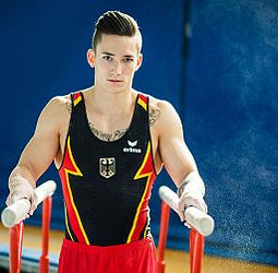 Male Ring Gymnasts Sillouett