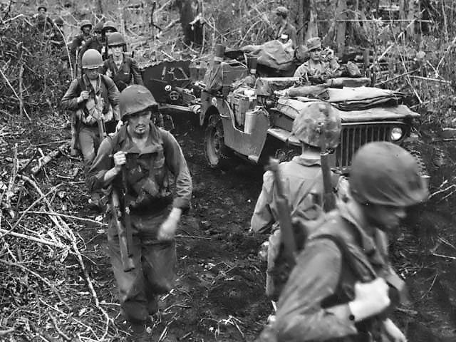 Marines on the trek