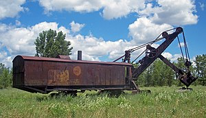 Marion Power Shovel Company - This Marion Model 91 shovel on display in Le Roy, New York is the only example known to exist. This shovel is included on the National Register of Historic Places.