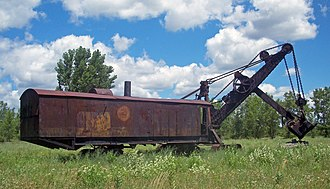 Marion Steam Shovel (Le Roy, New York) - South view of shovel in 2010