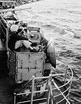 Mark 56 gun fire control director aboard USS Wasp (CV-18), circa in September 1957.jpg
