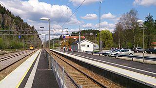 Marnardal Station railway station in Marnardal, Norway