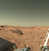 Vista del suolo di Marte da Viking 1