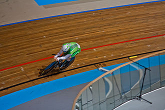 Martyn Irvine - Irvine representing Ireland at the 2011 European Track Cycling Championships.