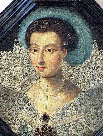 Maria Eleonora of Brandenburg - A contemporary portrait of Maria Eleonora, showing the resemblance to her daughter Christina