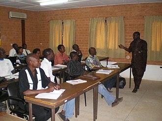 University of Ouagadougou - Master students at the university, 2010
