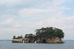 Matsushima - Kanejima, one of the many famous islands that dot the archipelago