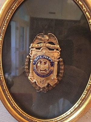 Max Samuel Grifenhagen - Sheriff's Badge of Max Samuel Grifenhagen